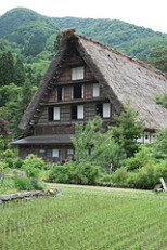 A-frame house in Shirakawa-go
